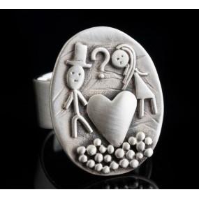 "Handmade ring ""Heart Couple"""