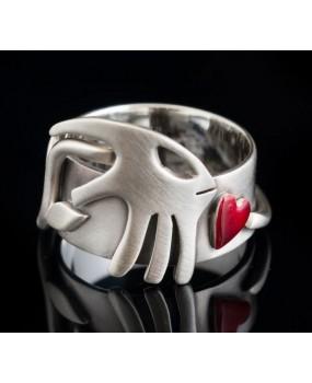 "Handmade ring ""Carnivore Heart"""