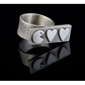 "Handmade ring ""Pacman"""
