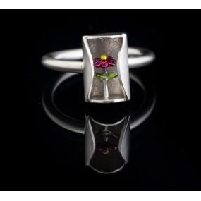 """Handmade ring """"Flower enamel"""""""