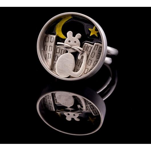 "Handmade ring ""Cat Circle"""