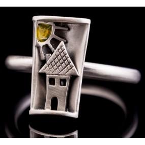 """Handmade ring """"Little house"""""""