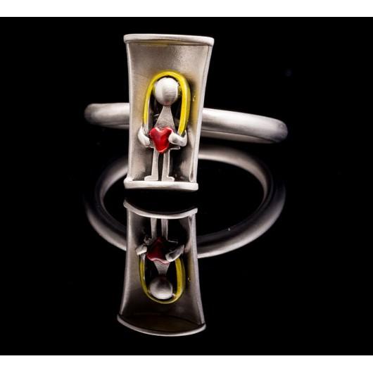 """Handmade ring """"Little Girl Heart"""""""