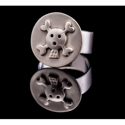 "Handmade ring ""Skull Circle"""