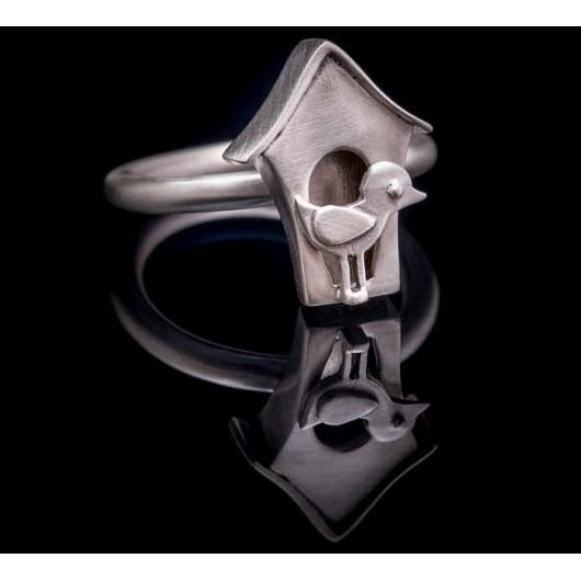 "Handmade ring ""Bird House"""