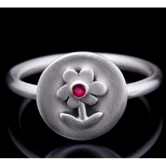 "Handmade ring ""Circle with Daisy"""
