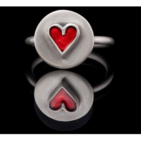 "Handmade ring ""Heart Circle"""